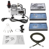 KKmoon Professional 3 Airbrush-Kit mit Luftverdichter Dual-Action Hobby Spray Air Brush Set Tattoo Nail Art Lack Versorgung w / Reinigungsbürste -